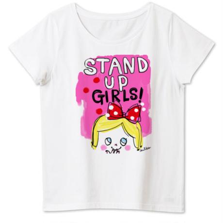 女性用girlちゃんTシャツ(スタンドアップ!)