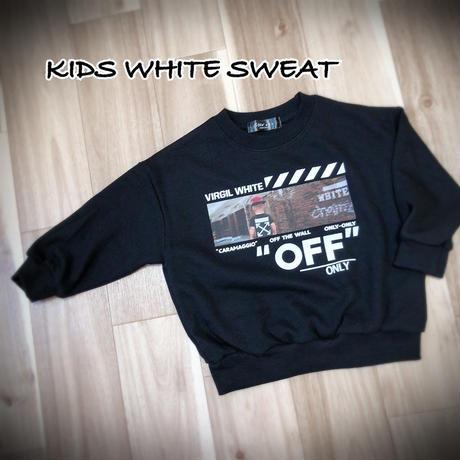 KIDS WHITE  SWEAT