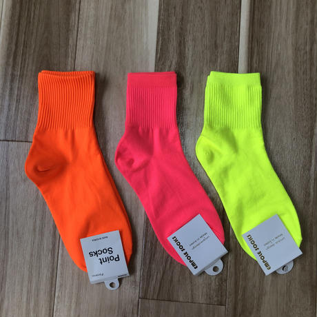 無地 neon color socks