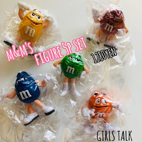 m&m's miniフィギュア5p set