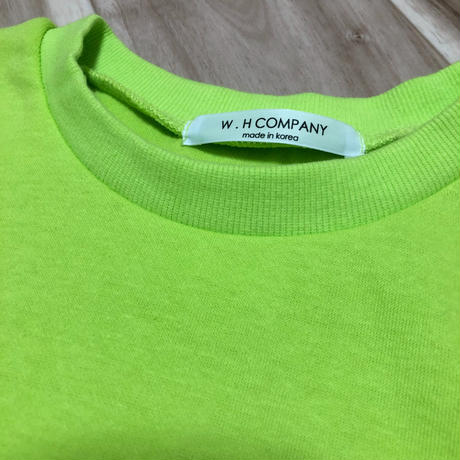 Ladies neon color 半袖sweat