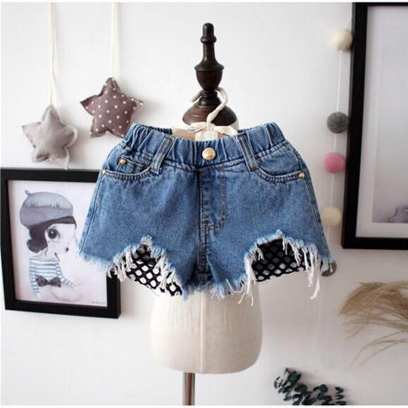 KIDS  FISHNETS  DENIM  PANTS