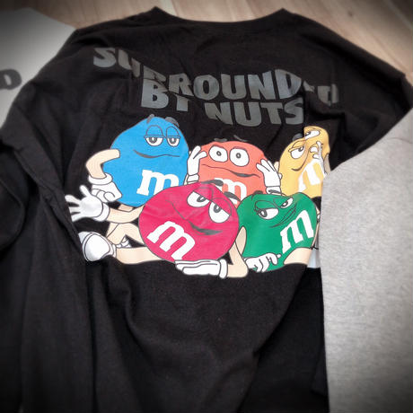 ladies  m&m's  long  T-shirt