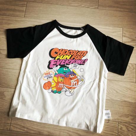 m&m's ラグラン半袖Tシャツ