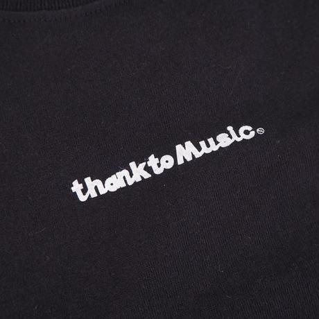 honne thank to Music Tシャツ ブラック/ Mサイズ (2299991010374)