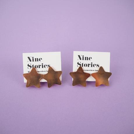Nine Stories メタルスターイヤリング (2299990788875)