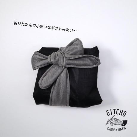 リボンエコバック-ブラック
