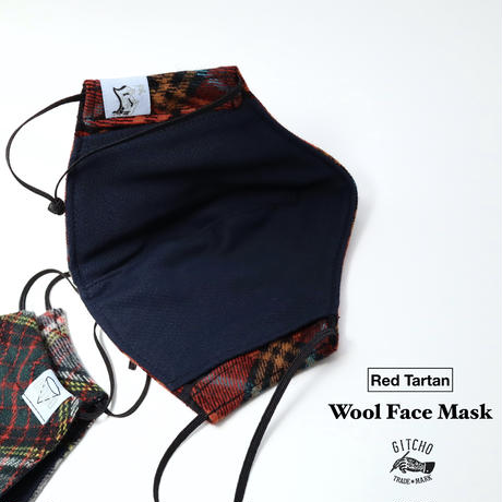 3D布マスク-Tartan Wool Face Mask(ポケット付き)