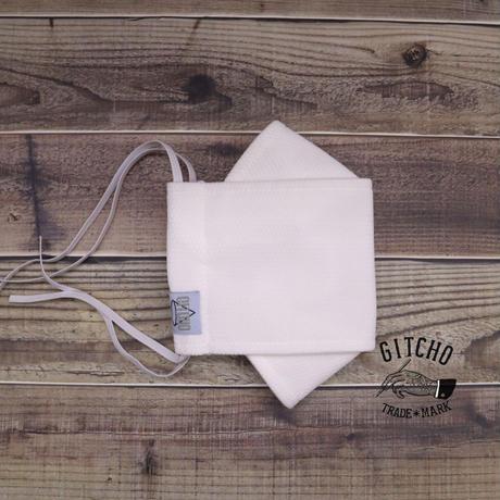 3層立体布マスク(ポケット付き)-ホワイト