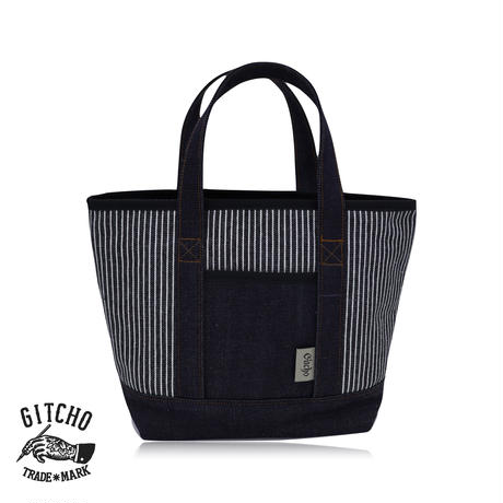 Tote Bag Small-denim striped