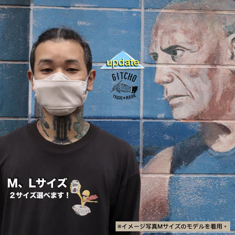 3層立体布マスク(ポケット付き)-スモークベージュ