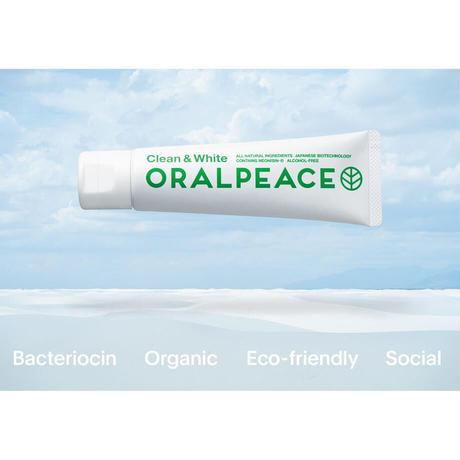 ORALPEACE オーラルピース / クリーン&ホワイト(オーガニック・ホワイトニング歯磨きジェル)