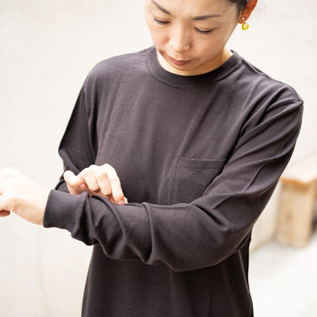 subtle voice/SV Wool Tee Long Sleeve
