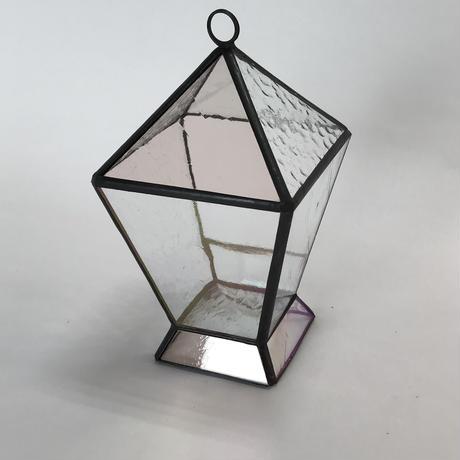 ランタン型テラリウム(ピンク)