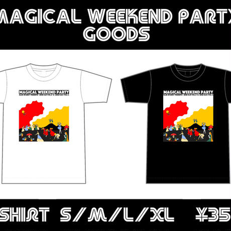 MAGICAL WEEKEND PARTY Tシャツ(白)