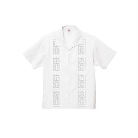 Vine-Openshirts White×Gray