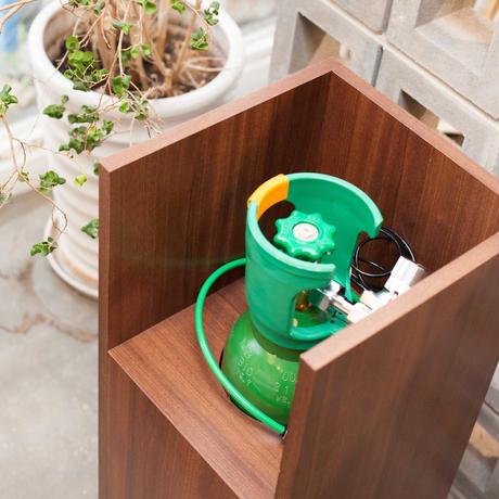 [お問い合わせ商品]生炭酸次亜塩素酸水専用 木製ボックススタンドカバー (キャスター付)