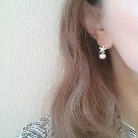 【pearl on star】ピアス