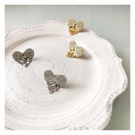 【Heart chandelier】ピアス