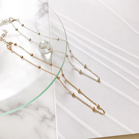 【Point beads】ネックレス