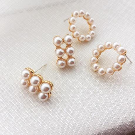 【Small grain pearl】ピアス