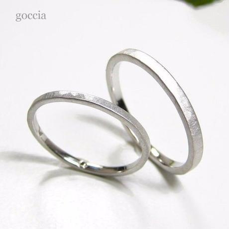 華奢な結婚指輪(ハードプラチナ900製)/ The Way マリッジリング (5-1)