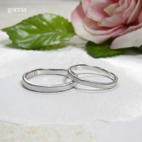 ナチュラルな結婚指輪。ハードプラチナ900の自然(Natural)