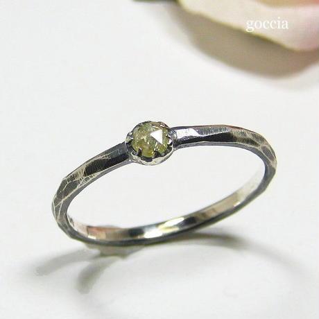 ローズカットダイヤのシルバーリング