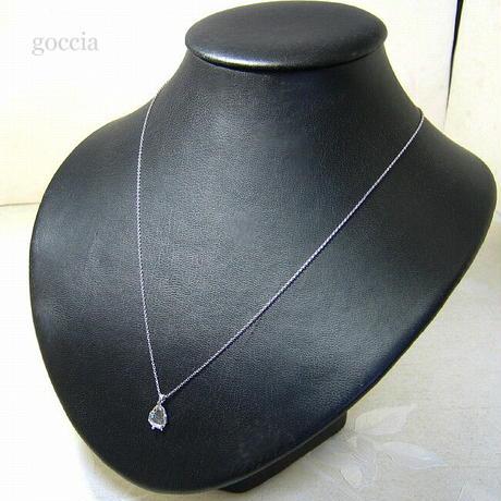 スライスダイヤモンドのペンダントネックレス(一点もの)