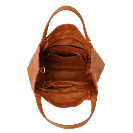 牛革製バッグ/クリスティーナ キャメルブラウン