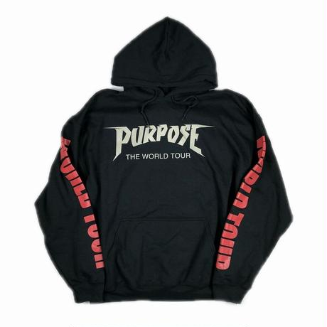 JUSTIN BIEBER PURPOSE TOUR WORLD TOUR HOODIE XL 【中古】