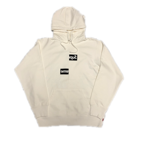 Supreme Comme des Garcons SHIRT Split Box Logo Hooded Sweatshirt White M 18AW 【新作】