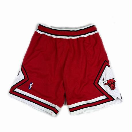 MITCHELL & NESS BASKETBALL AUTHENTIC SHORTS NBA CHICAGO BULLS RED M 【中古】