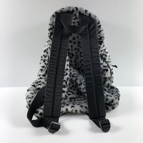 Supreme Leopard Fleece Backpack Black 17AW 【中古】