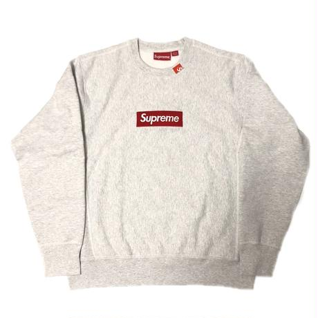 Supreme Box Logo Crewneck Sweatshirt Ash Grey M 18AW 【新品】