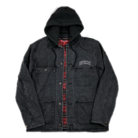 Supreme Hooded Chore Coat Black M 17AW 【中古】