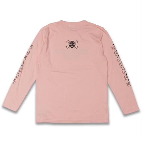 CROSS  BONE  L/S TEE クロスボーン  ロンTEE  ピンク  大人サイズ