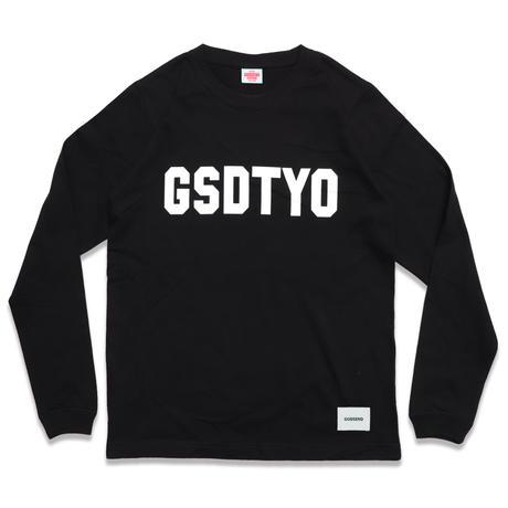 GSDTYO  L/S TEE  BLACK GSDTYO  ロングスリーブTEE  ブラック