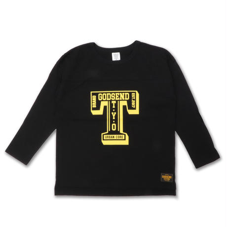 T- LOGO  L/S TEE Tロゴ  ロンT  BLACK