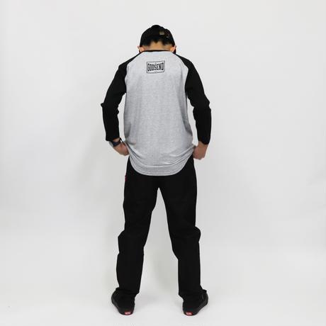 HARD  CORE  RAGLAN  3/4 TEE ハードコア  ラグラン七分袖  TEE  ブラック/グレー