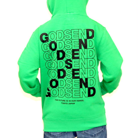 CROSS  LOGO  HOODIE  L/GREEN  クロスロゴ  パーカー  ライトグリーン