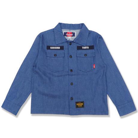 DENIM  WORK  SHIRTS  デニムワークシャツ