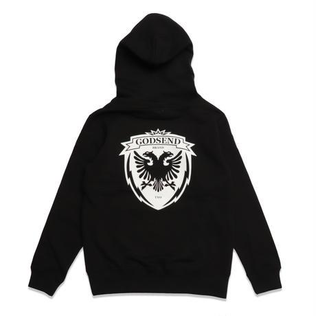 HERALDIC  HOODIE  BLACK  ヘラルディック  パーカー  ブラック