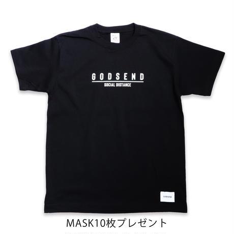 SOCIAL  DISTANCE  TEE  BLACK  ソーシャルディスタンス  Tシャツ  ブラック