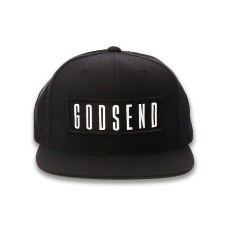 6PANEL  BOX  LOGO  COTTON  CAP  BLACK