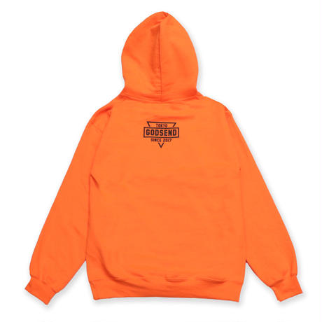 GSDTYO  HOODIE  ADULT  SIZE  NEON  ORANGE  GSDTYO  パーカー  蛍光オレンジ  大人サイズ
