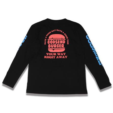 BURGER  L/S TEE バーガー  ロンTEE  ブラック