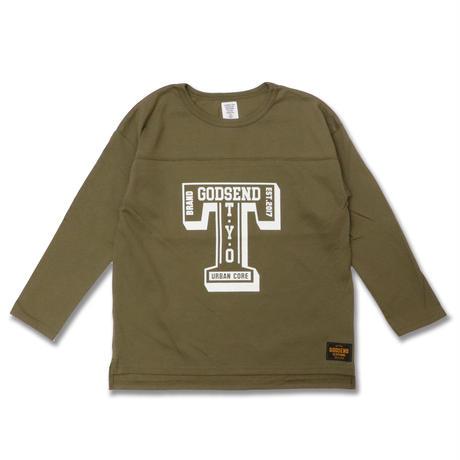 T- LOGO  L/S TEE Tロゴ  ロンT  KHAKI