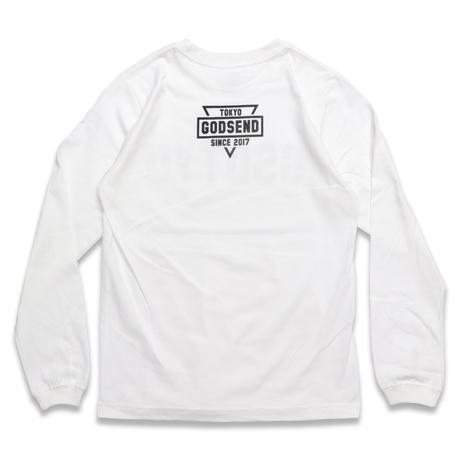 GSDTYO  L/S TEE  WHITE GSDTYO  ロングスリーブTEE  ホワイト
