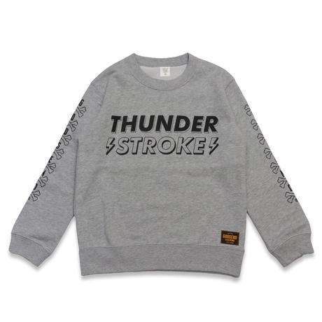 THUNDER  STROKE  C/N  SWEAT  SHIRT  GRAY  サンダー  ストローク  スウェットシャツ  グレー